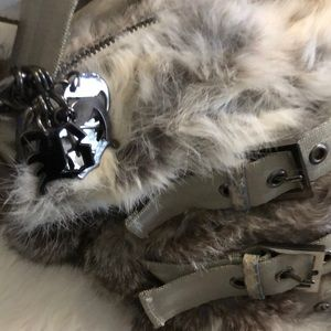Bags - Brand New Rabbit Fur Slouchy Purse Bags